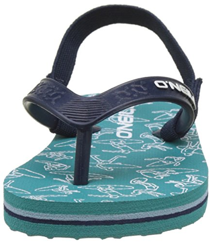 O'Neill Fy Team Lil Flip Flops, Chaussures de Plage et Piscine Mixte Enfant Vert (Green Blue)