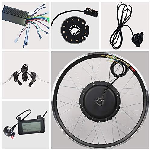 TZIPower 48V 1500Watt Umbausatz E Bike 28 Zoll Hinterrad Heck 48V, E-Bike Kit Pedelec Elektrofahrrad 1500W