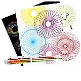 Jooffery Zeichnung, geometrisches Kurvenlineal Schablone Spirale Kunst Schreibwaren Spirograph Spielzeug