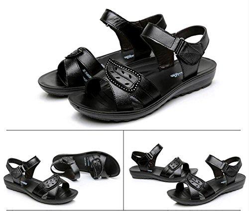 Sandali donna in pelle estate in mezzo ai sandali sandali anziani sandali inferiori 1