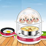 Supreme Multi Function Non-Stick Electric Two Layer Frying Pan Egg Omelette Pancakes Steak Egg Boiler Electric Skillet 14 Eggs