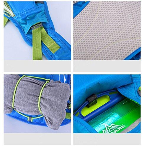 AONIJIE 8L Ultrleicht Sport Taschen Hydration Rucksack Wanderrucksack mit 1.5L Trinkblase Blau