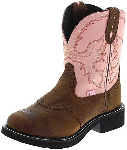 Justin Boots L9901 B Pink Apache/Damen Westernreitstiefel Braun/Damenstiefel/Reitstiefel/Western Riding Boots, Groesse:37 (7 US) Damen-western-stiefel Größe 7