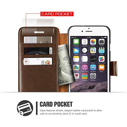 Étui iPhone 6 / 6s, VRS Dandy Layered Housse Téléphone [avec Fente pour Cartes] Coque Apple iPhone 6 / 6s Case Marron Foncé - Marron Smartphone Marron Foncé / Marron