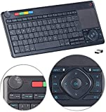 GeneralKeys Tastatur Computer: Lernfähige Multimedia-Funk-Tastatur & Fernbedienung für PC, Smart-TV (Tastatur Wireless TV)