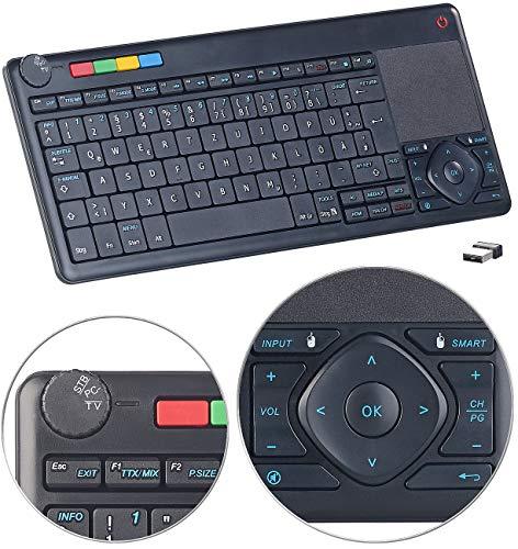 GeneralKeys Touchpad: Lernfähige Multimedia-Funk-Tastatur & Fernbedienung für PC, Smart-TV (Tastatur für Samsung Smart TV) -