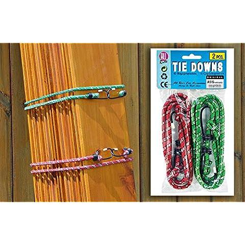4tiranti elastici 1–Set di A. 2pezzi–100cm di lunghezza con 2gancio