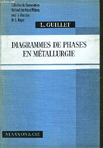 DIAGRAMMES DE PHASES EN METALLURGIE / COLLECTION DU CONSERVATOIRE NATIONAL DES ARTS ET METIERS par GUILLET L.