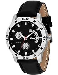 Xurious Enterprise Round Dial Analogue Black Dial Black Synthetic Leather Strape Fashion Wrist Watch For Men &...