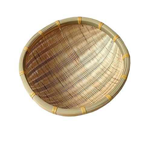 Bambus Gerundet Multifunktional Obstschalen,Brot oder ablagekorb Für das leben Esszimmer Präsentation des essens und garnieren-A Durchmesser18cm(7inch)