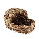 Hianiquaime® Nido de Hámster Hecho de Grass Invierno Cálido Cama Casa Ideal para Ratón Ardilla Chinchilla Cobaya y Otros Pequeños Animales 01