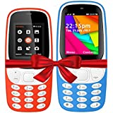 I KALL K3310 (Red) And K35(Light Blue) Combo Of Dual Sim Mobile With 101 Days Replacement Warranty With 1 Year Manufacturer Warranty