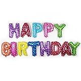 HerZii 13 pz / Lotto Rosa / Blu Lettera Buon Compleanno Palloncino Foglio di Alluminio Palloncino Decorazione di Compleanno del Bambino Palloncino di Elio Alfabeto (Colore di miscelazione)