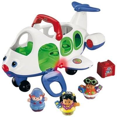 Fisher-Price Little People J0895-0 - Avión de juguete con 3 figuras (piloto, Eddie, Sarah Lynn) (Mattel) por Fisher-Price