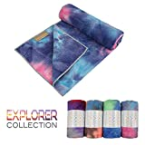 Yogabum Explorer Sammlung Non-Slip - Yoga-Matten Handtücher (Coral Reef)