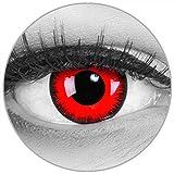 Maralens, Lenti a contatto colorate da demone, senza gradazione, Rosso (Red Demon), 1 confezione da 2 pz.