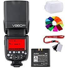 fomito Godox v860ii-n 2.4G TTL Flash de cámara batería de ión litio v860iin Speedlite para Nikon D800D700D7100D7000D5200D5100D5000D300D300S D3200D3100D3000D200D70S cámaras de D810D610D90D750