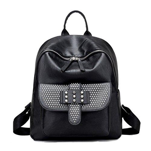 Pu neuer Stil Damen accessories hohe Qualität Einfache Tasche Schultertasche Freizeitrucksack Tasche Rucksäcke Blau Keshi FwG1b6L