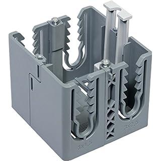 Rehau Elektro.Inst. SIGNA Geräteeinbaudose BRK Dose grau 1-fach grau Einbaudose für Geräteeinbaukanal 4007360578862