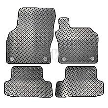 Carsio ZCUT-2893-(55 x 4) - Set di 4 tappetini auto in gomma per Audi A3 2012-2018 (8 V) 4 clip