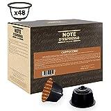 Note D'Espresso, Cappuccino istantaneo in capsule, compatibili con macchine Dolce Gusto, 9 g x 48
