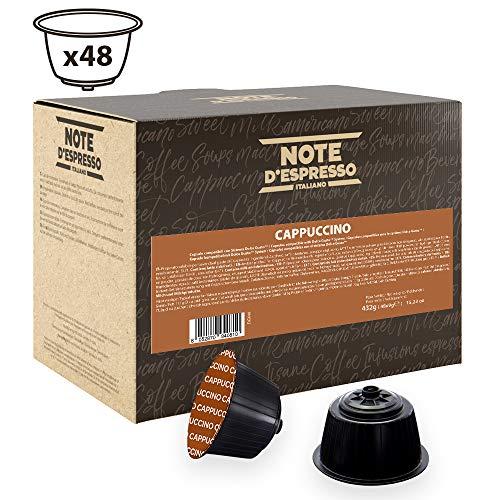 Note D'Espresso - Cápsulas de capuchino instantáneo compatibles con cafeteras Dolce Gusto, 9g (caja de 48 unidades)