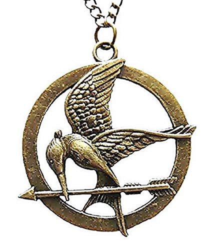 Lovelegis Kette für Frauen - Damen Halskette - Jay Fire Imitator - Kino - Hunger Games - Mockingjay - Bronze Farbe (Hunger Games Kostüm Mann)