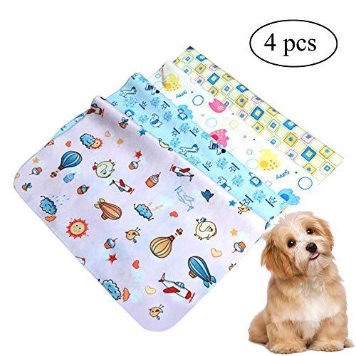 Tappetini igienici assorbenti per cani, FOONEE 4 pz Tappetini da addestramento per animali domestici e cuccioli - lavabili in lavatrice, riutilizzabili
