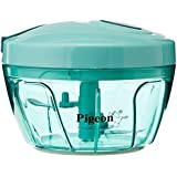 Pigeon New Handy Chopper With 3 Blades, Green / Home Puff Vegetable Cutter,Chopper &Mini Blender 3 Stainless Steel Blade System