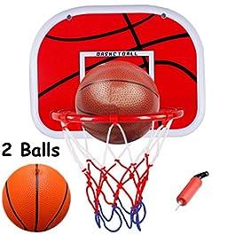 WoBoSen all'Interno Mini Basket Hoop a Ufficio Camera Mini Pallacanestro Bordo Bambini Sport di Svago con la Sfera e la…