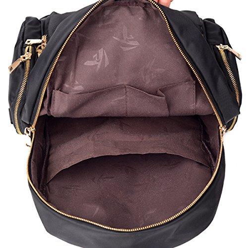 MYLL Zaino Oxford Vintage Daypack Water Resistant Rucksack Per Donne Ladies Girls College Gym Work Sports,Black Blue