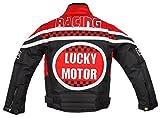Racing Jacke für Kinder in rot, Motorradjacke - 3