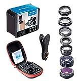 amiciKart Apexel 7 in 1 Phone Camera Lens Kit, Fish Eye Wide, Angle/Macro