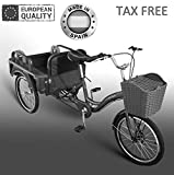 Beer Bike Triciclo eléctrico Adulto 250W 12Ah con almacenaje Disponible en Color Blanco o Negro