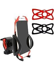 Bike Mount bicicleta teléfono móvil soporte universal soporte abrazadera Ajustable para bicicleta soporte de moto para con escombros correa para teléfono inteligente GPS