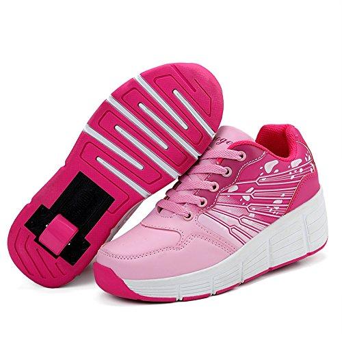 098a71af8981e2 Veasion Kinder Schuhe mit Rollen Skate Roller Shoes Rollen Skateboard Kinder  Jungen Mädchen Schuhe
