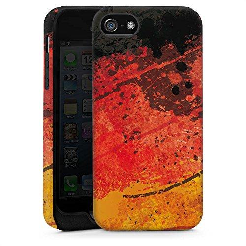 Apple iPhone 6 Housse Étui Silicone Coque Protection Drapeau allemand Drapeau Allemagne Allemagne Cas Tough brillant