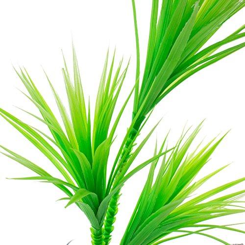 artplants Set 6 x Deko Yucca, 3-stämmig, uv-grün, 90 cm – Künstliche Yucca/Plastik Pflanzen