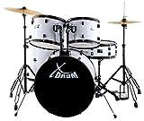 """XDrum Rookie 22"""" Standard Schlagzeug Komplettset White & inkl. Schule + DVD"""