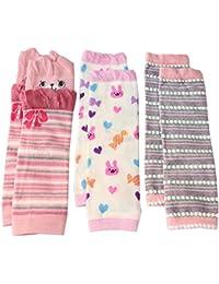 Bebé Niños Niñas Calentadores de la pierna Pack de 3rosa rojo Set de regalo
