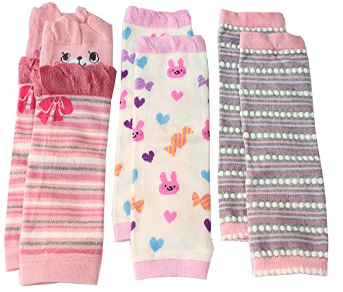 Colourful Baby World Baby Mädchen (0-24 Monate) Stulpe Mehrfarbig mehrfarbig M Gr. M, Pink Bear