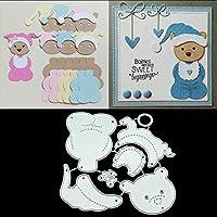 BINGHONG3 Little Bear Metal Cutting Dies Stencil Scrapbooking Album Stamp Paper Card Crafts Decor