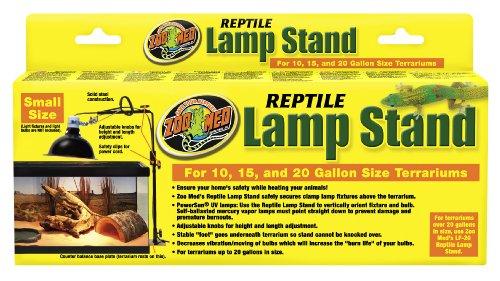 Zoo Med LF-21 Repti Lamp Stand, Lämpenständer für Hängelampenschirme, verstellbar bis 65 cm Höhe (Stand Lampenschirm)