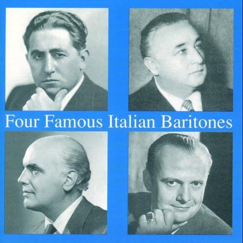 Four Famous Italian Baritones. Basiola, Tagliabue, Bechi, Gobbi.