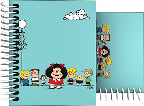 Grafoplás 16531947-Cuaderno Tapa Dura A7, Diseño Mafalda Amigos, 100 hojas cuadriculadas