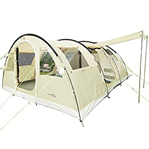 skandika gotland family tunnel tent with sewn-in groundsheet