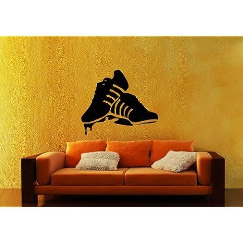 Adesivi da Parete in Vinile Sneakers Gumshoes Scarpe Sportive