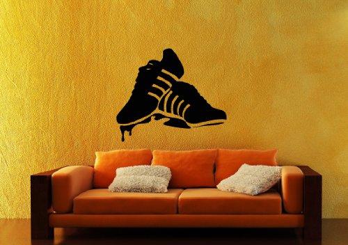 Adesivi da Parete in Vinile Sneakers Gumshoes Scarpe Sportive ig1528