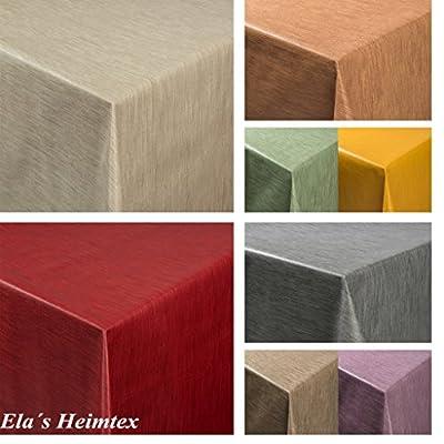 Tischdecke aus Wachstuch RUND – ECKIG – OVAL in Verschiedenen Größen – abwaschbar – Meterware – einfarbig – Uni von EHT - Gartenmöbel von Du und Dein Garten