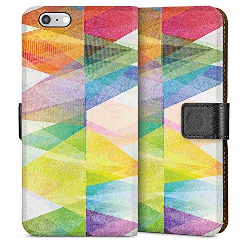 Apple iPhone 5s Housse Étui Protection Coque Motif Motif couleurs Sideflip Sac